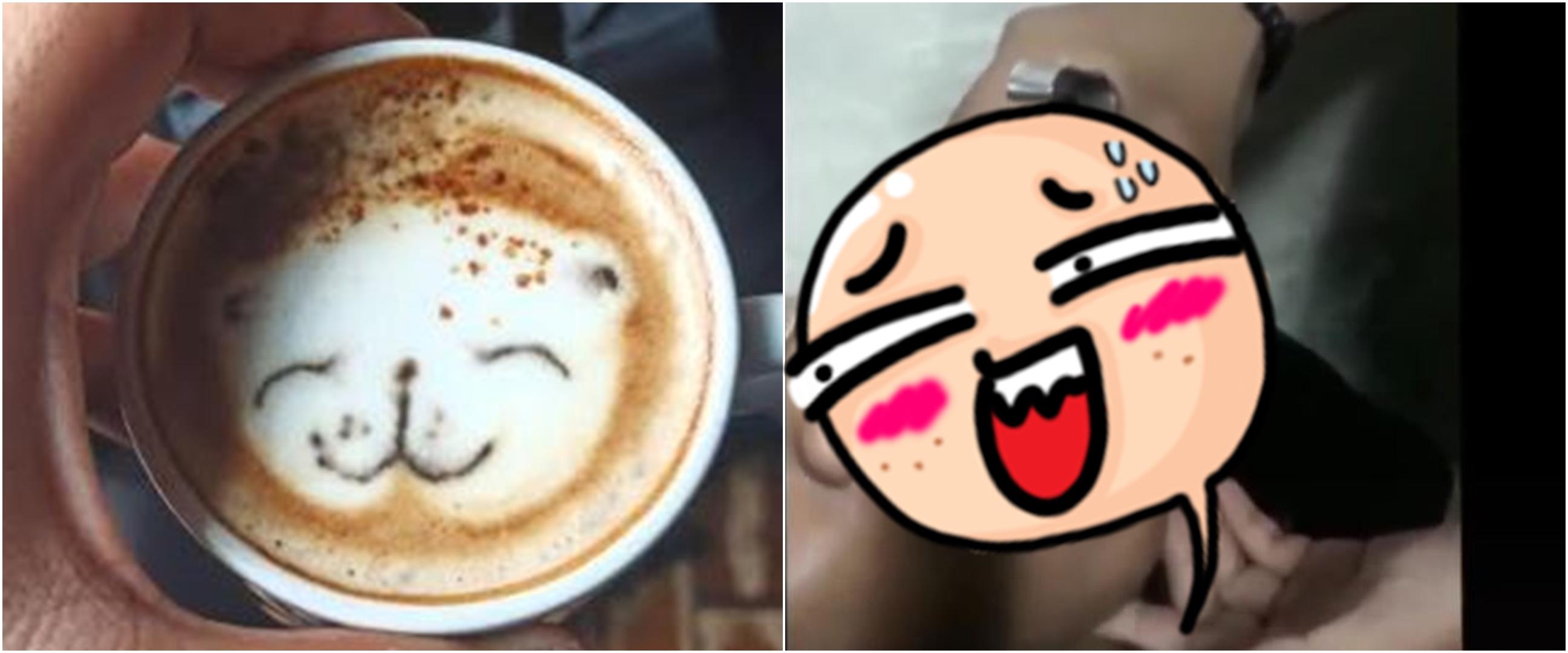 Viral video pria bikin latte art langsung di mulut peminumnya