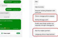 10 Chat driver ojek online pakai pantun, bikin penumpang senyum