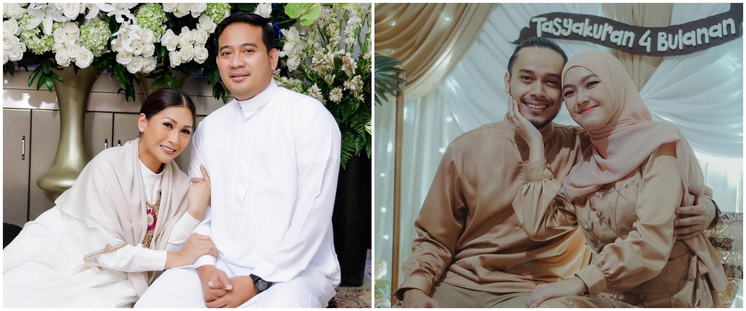 Momen syukuran 4 bulanan 7 seleb, Tata Janeeta usung dresscode putih