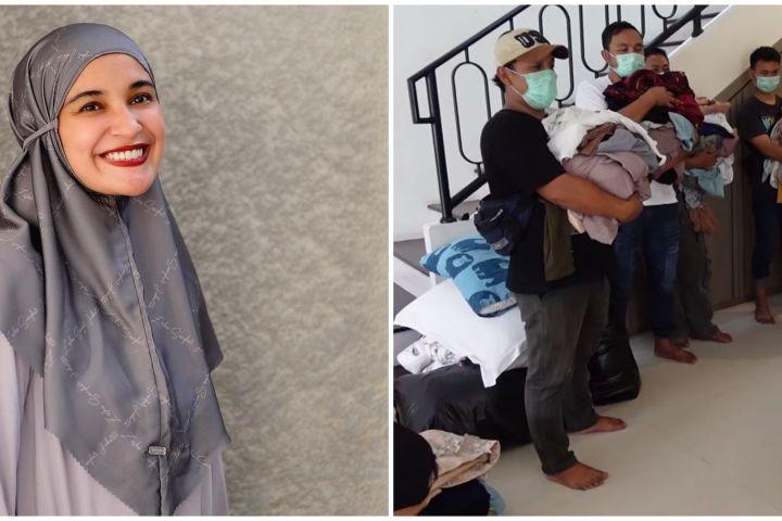 8 Momen Shireen Sungkar pindah rumah, bagi puluhan baju untuk karyawan