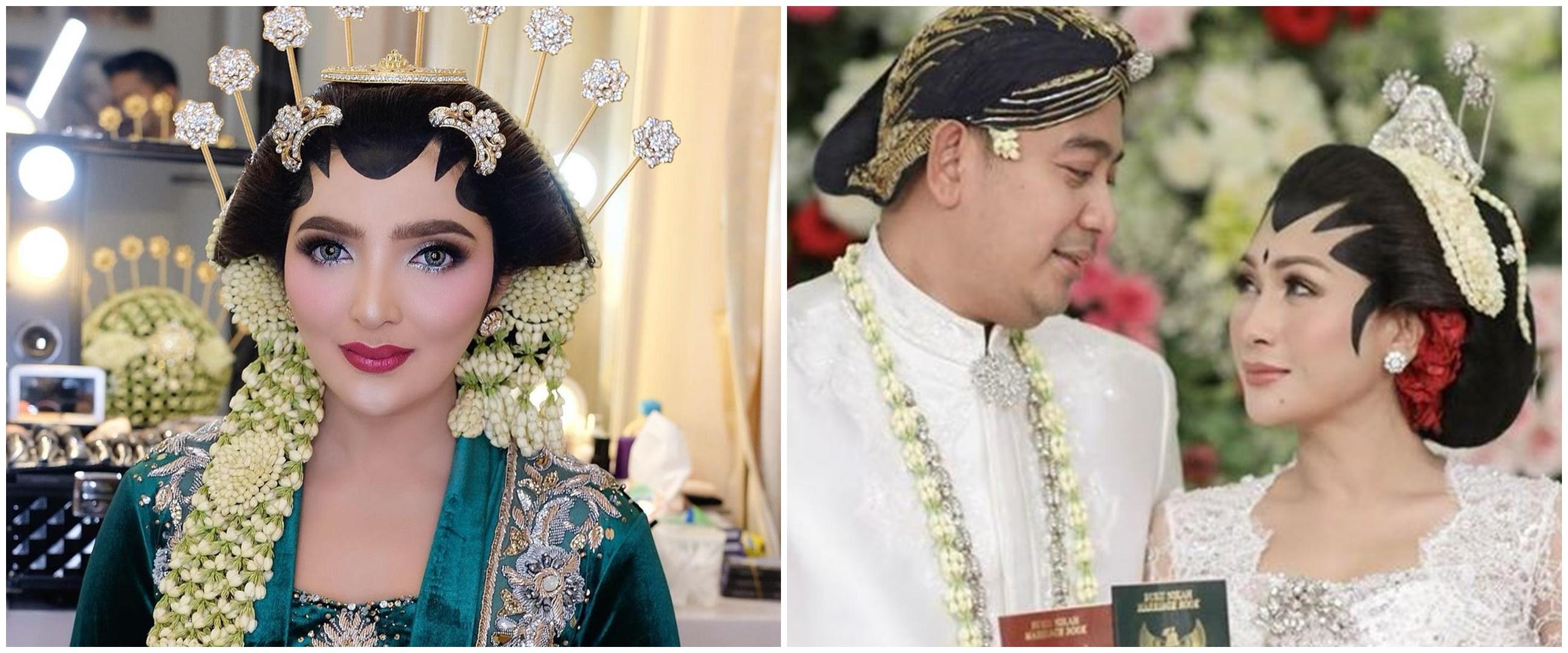 Pesona 7 penyanyi cantik saat pakai baju pengantin Jawa, memesona