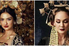 Belum nikah, gaya 8 seleb dandan pengantin tradisional ini manglingi