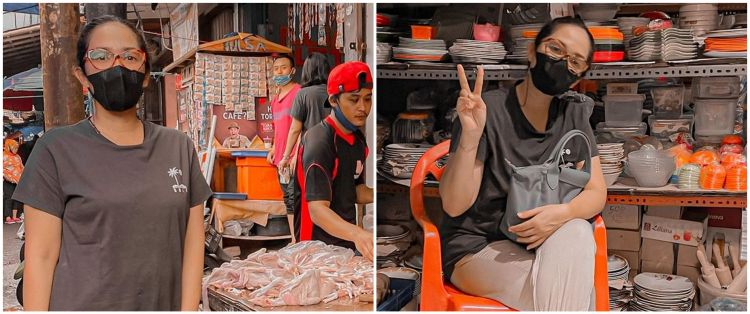 15 Momen Ussy Sulistiawaty kalap belanja di pasar, habis jutaan rupiah