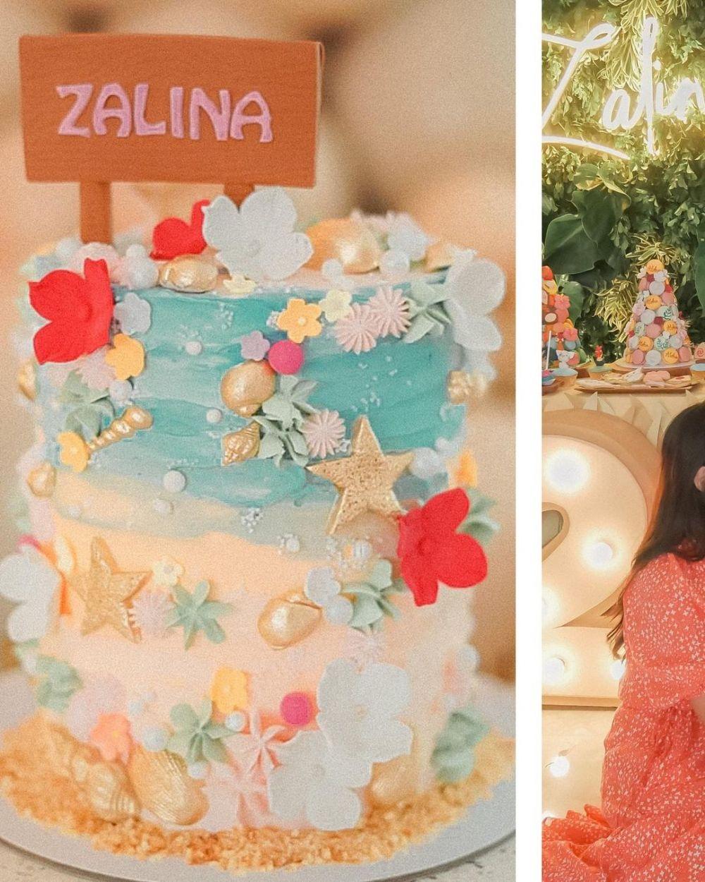 Momen ulang tahun ke-2 Zalina Instagram