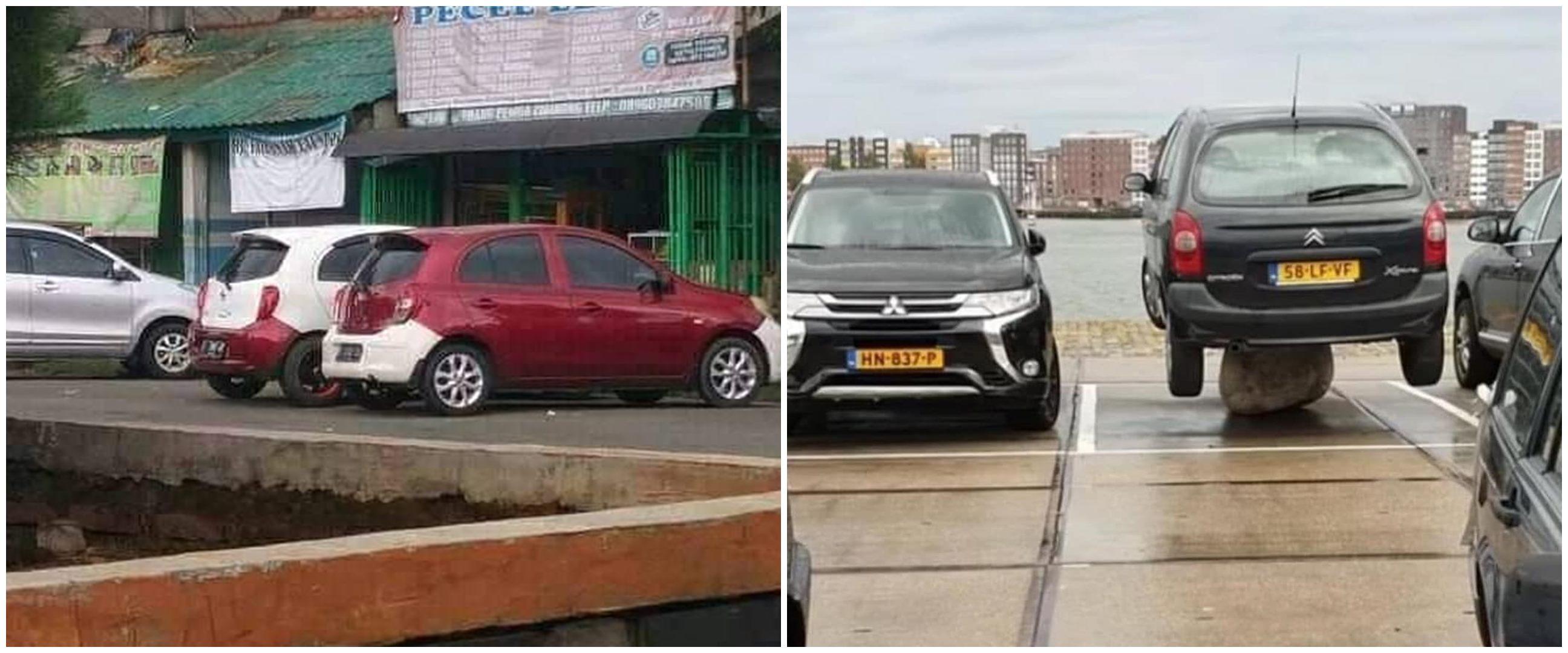 10 Penampakan kendaraan absurd di tempat parkir, bikin mikir keras