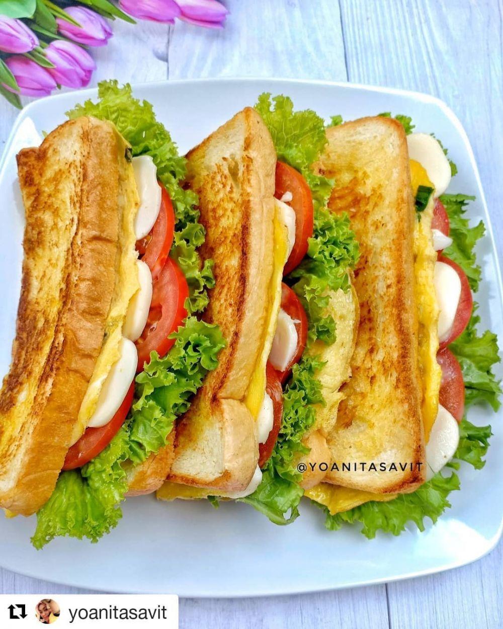 Resep sandwich paling menggugah selera Instagram