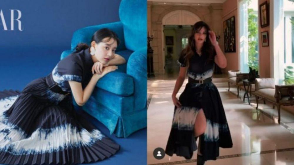 Momen seleb kembaran baju dengan artis dunia © berbagai sumber