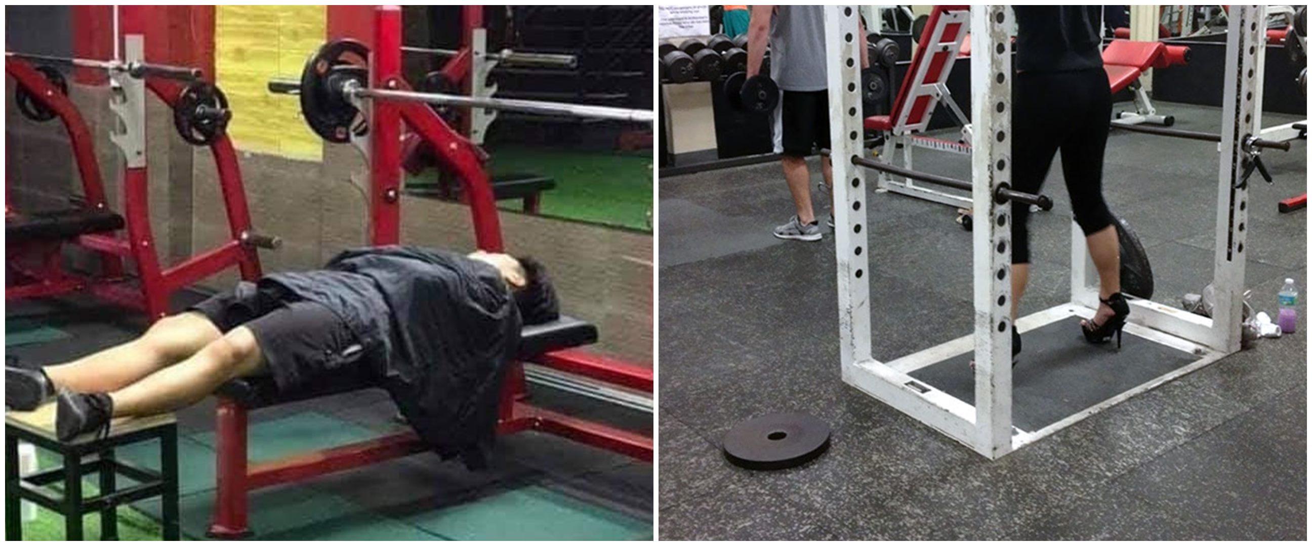 10 Potret santai orang di tempat olahraga, ada yang tidur pulas