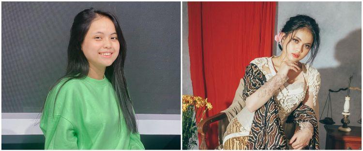 6 Momen pemotretan Putri D'Academy pakai kebaya, auranya terpancar