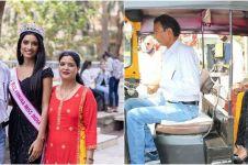9 Momen Miss India Manya Singh bertemu orang tua, dijemput naik bajaj