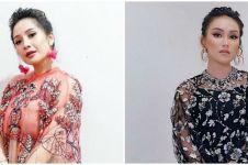 10 Potret beda gaya Nagita Slavina dan Ayu Ting Ting pakai baju kembar