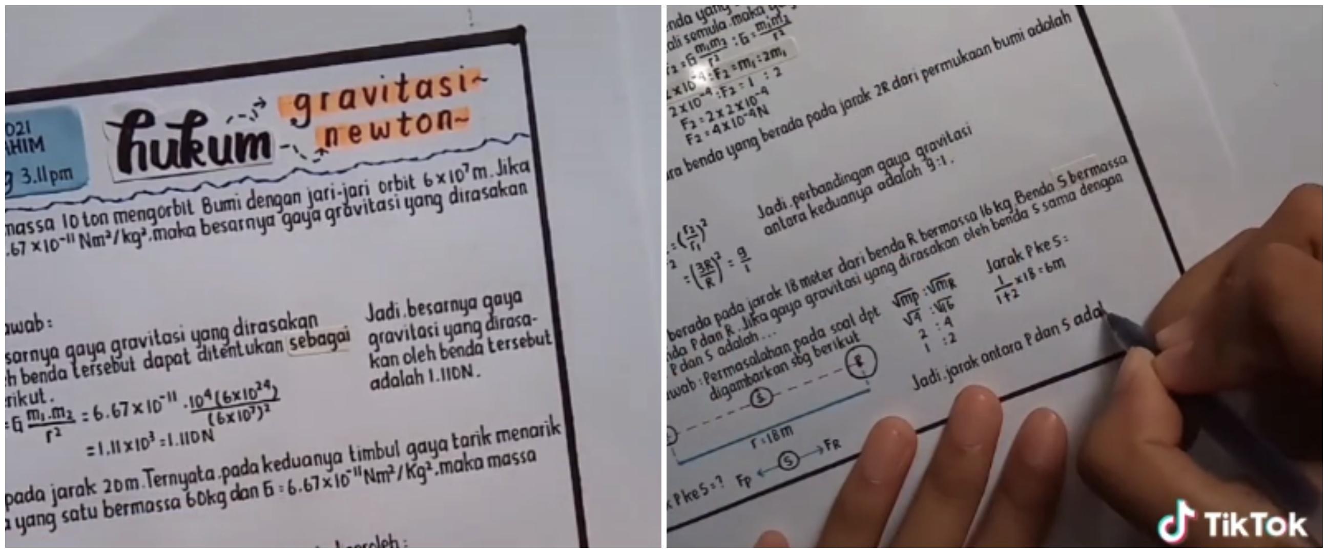 Tulisan tangan pelajar ini rapi bak ketikan komputer, tuai kekaguman