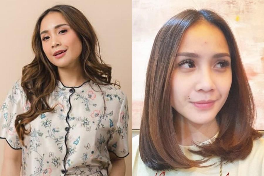 Seleb sebelum dan sesudah potong rambut © Instagram