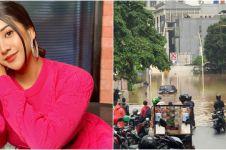 Cerita Anya Geraldine terjebak banjir, terpaksa mengungsi ke hotel
