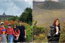 10 Momen Ayu Ting Ting liburan di Magelang dan Bromo, boyong keluarga