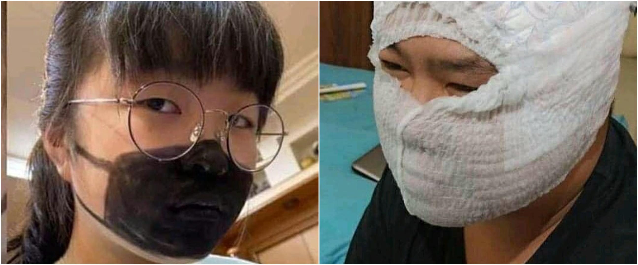 10 Masker ini punya bentuk nyeleneh, bikin tepuk jidat