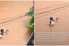 Kisah perjuangan ojol antar pesanan saat banjir ini tuai simpati