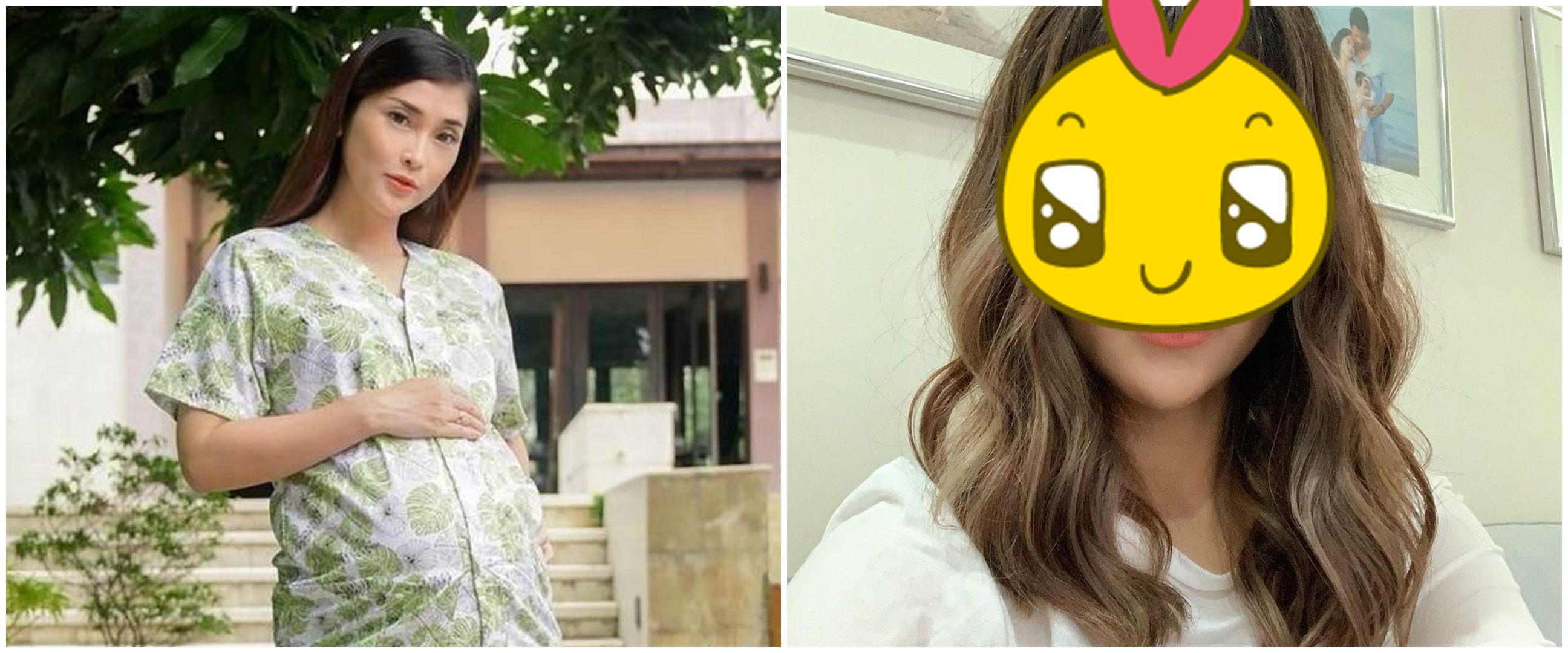 8 Pesona Eva Anindita usai lahiran, tampil beda dengan rambut poni