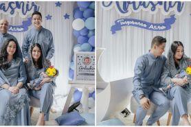 10 Momen akikah anak Angbeen Rishi, mewah dan elegan serba biru