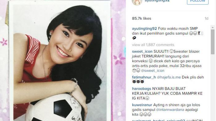 Potret lawas Ayu Ting Ting saat sekolah Instagram
