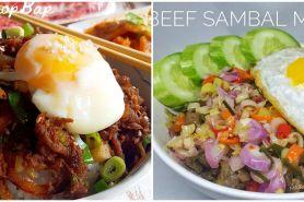 10 Resep rice bowl ala kafe, bikin anak doyan makan
