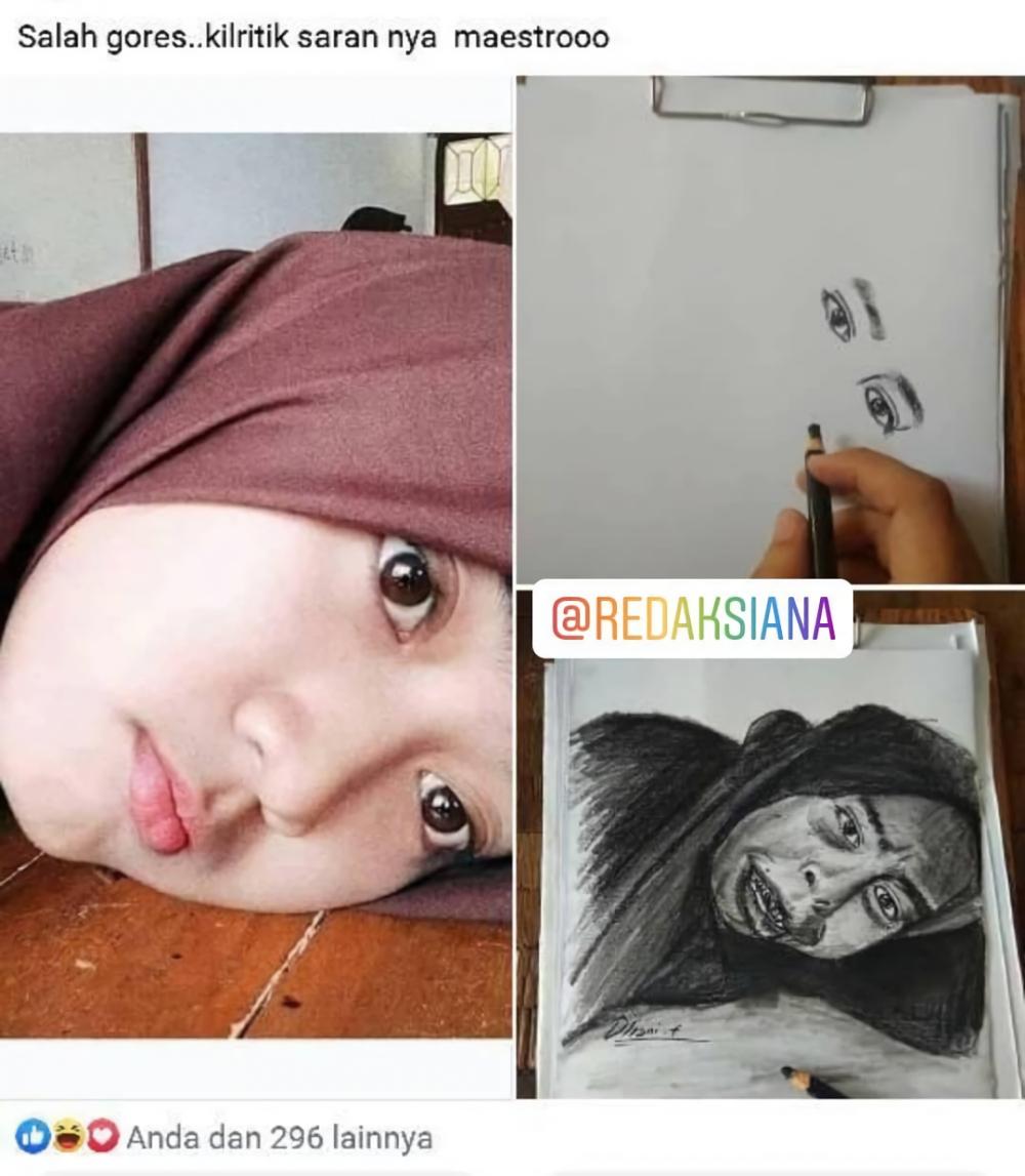 hasil lukisan amatir © Instagram