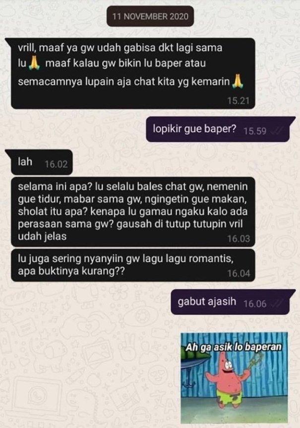 Chat lucu cowok ke gebetan © berbagai sumber