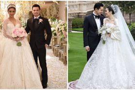 Gaya 10 pesinetron kenakan gaun saat menikah, pesonanya bak princess