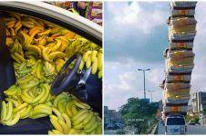 10 Penampakan mobil penuh barang belanjaan, bikin kerutin dahi
