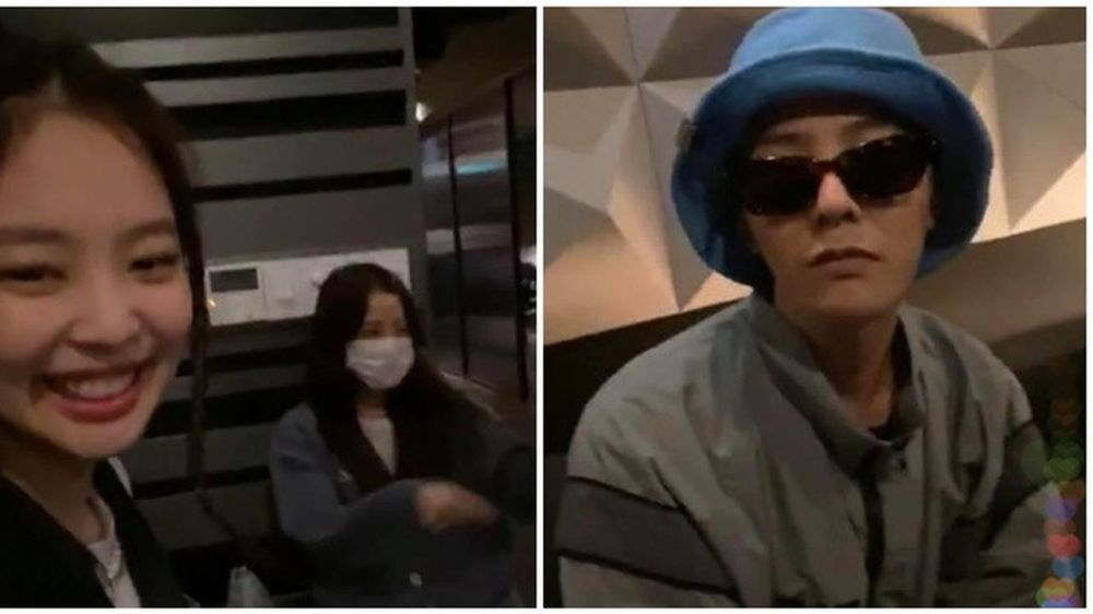 momen kedekatan G-Dragon BIGBANG dan Jennie BLACKPINK Berbagai sumber