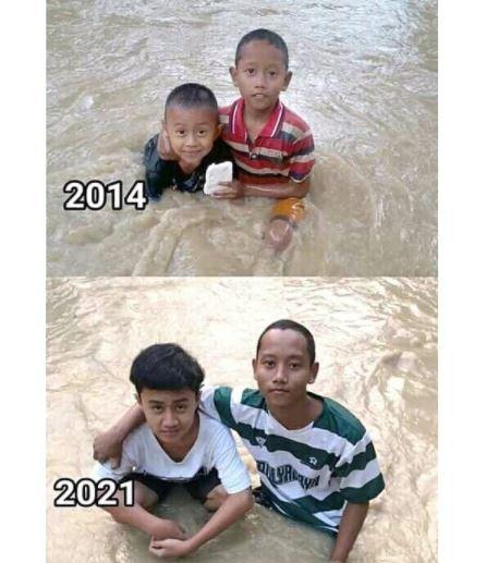 Potret transformasi warga kebanjiran © 2021 brilio.net