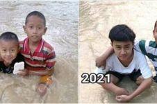 5 Potret transformasi warga saat daerahnya kebanjiran, curi perhatian