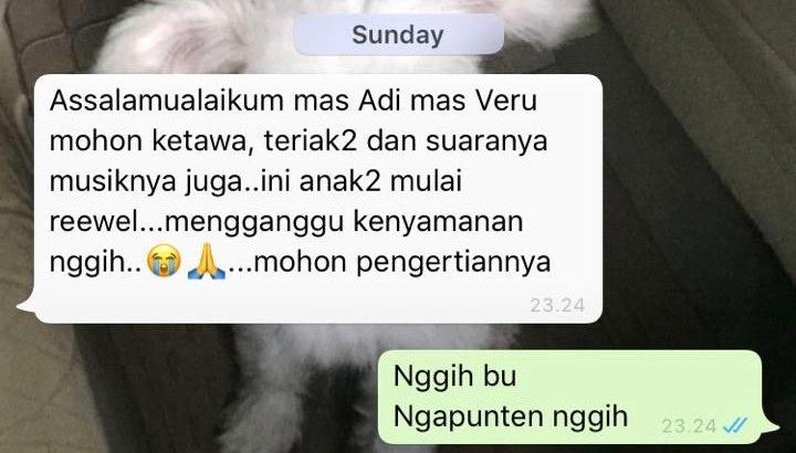 Chat peringatan ibu kos © berbagai sumber