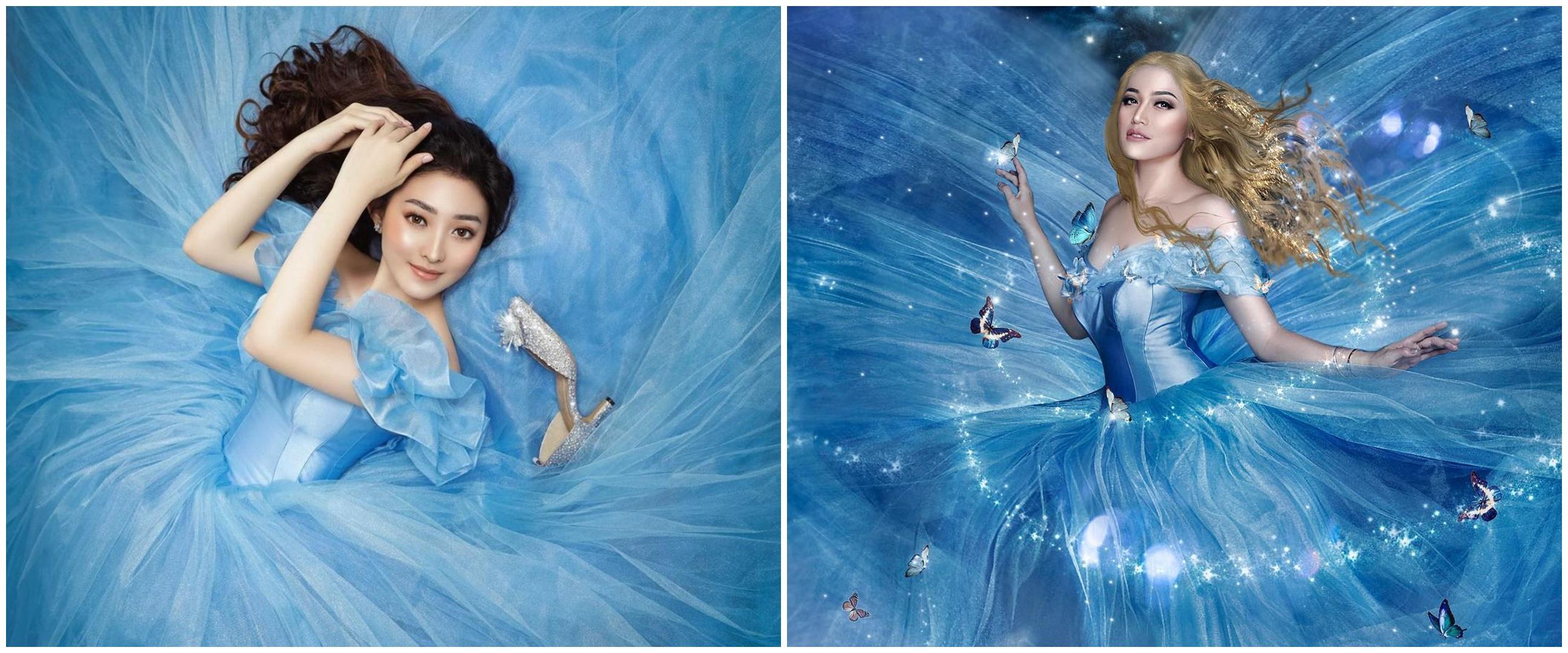 Beda penampilan 6 seleb dandan ala Cinderella, pesonanya terpancar