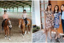 10 Momen seru Nagita Slavina dan ipar berkuda di tempat Nabila Syakieb