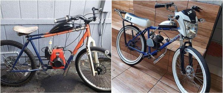 10 Modifikasi sepeda dipasangi mesin ini bikin mikir dua kali