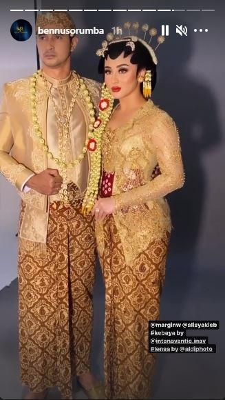 Ali Margin baju pengantin Jawa © Instagram