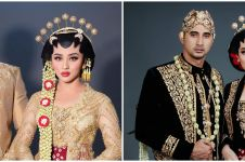 10 Potret Ali Syakieb dan Margin pakai baju pengantin Jawa, memukau