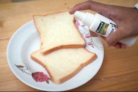 Menggunakan food grade ethanol, hand sanitizer ini aman untuk makanan