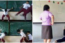 9 Momen kocak murid saat disuruh guru ke depan kelas, ada-ada aja