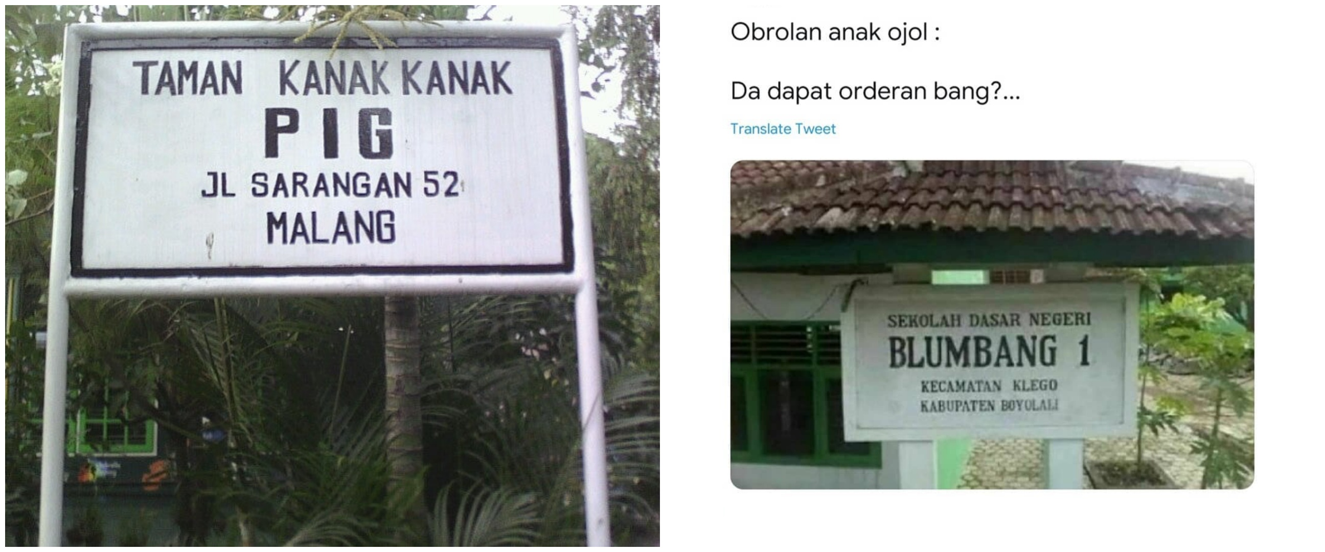 Cuma di Indonesia, 11 nama sekolah ini uniknya bikin nyengir