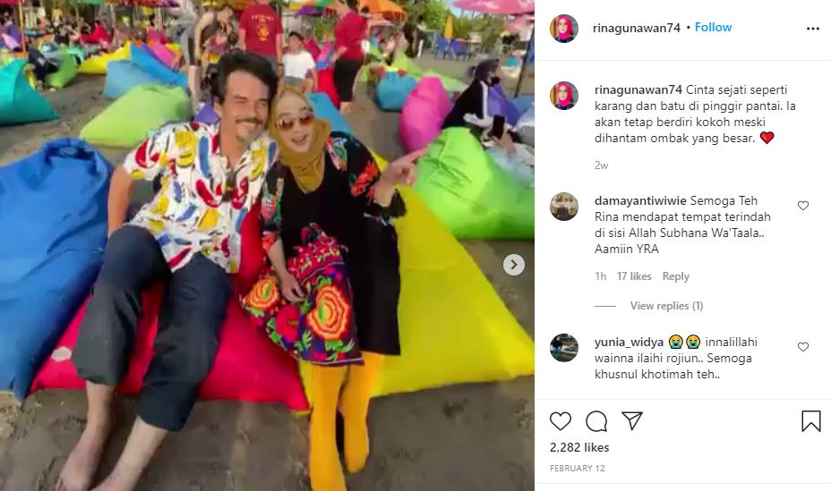 Rina Gunawan tulis pesan menyentuh soal cinta Instagram