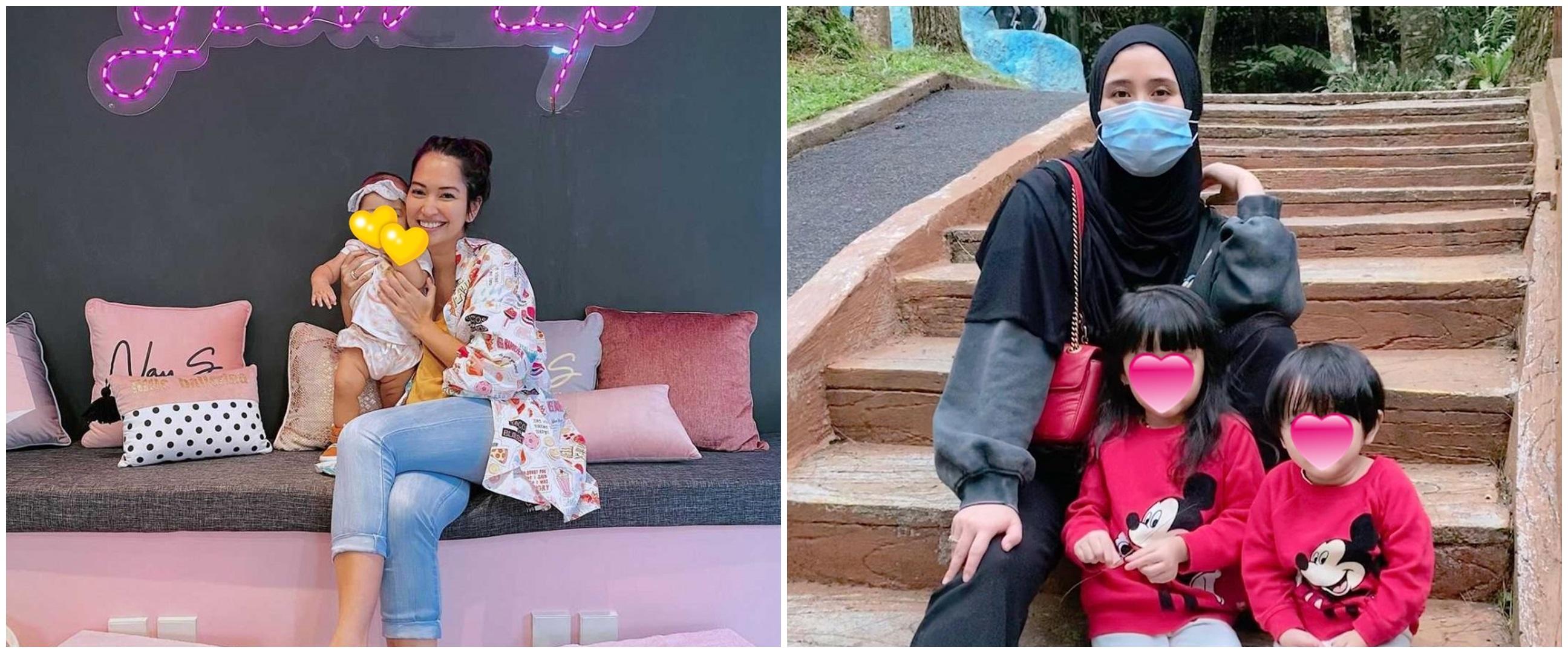 Vakum dari dunia hiburan, intip beda gaya 8 seleb Ratu FTV momong anak