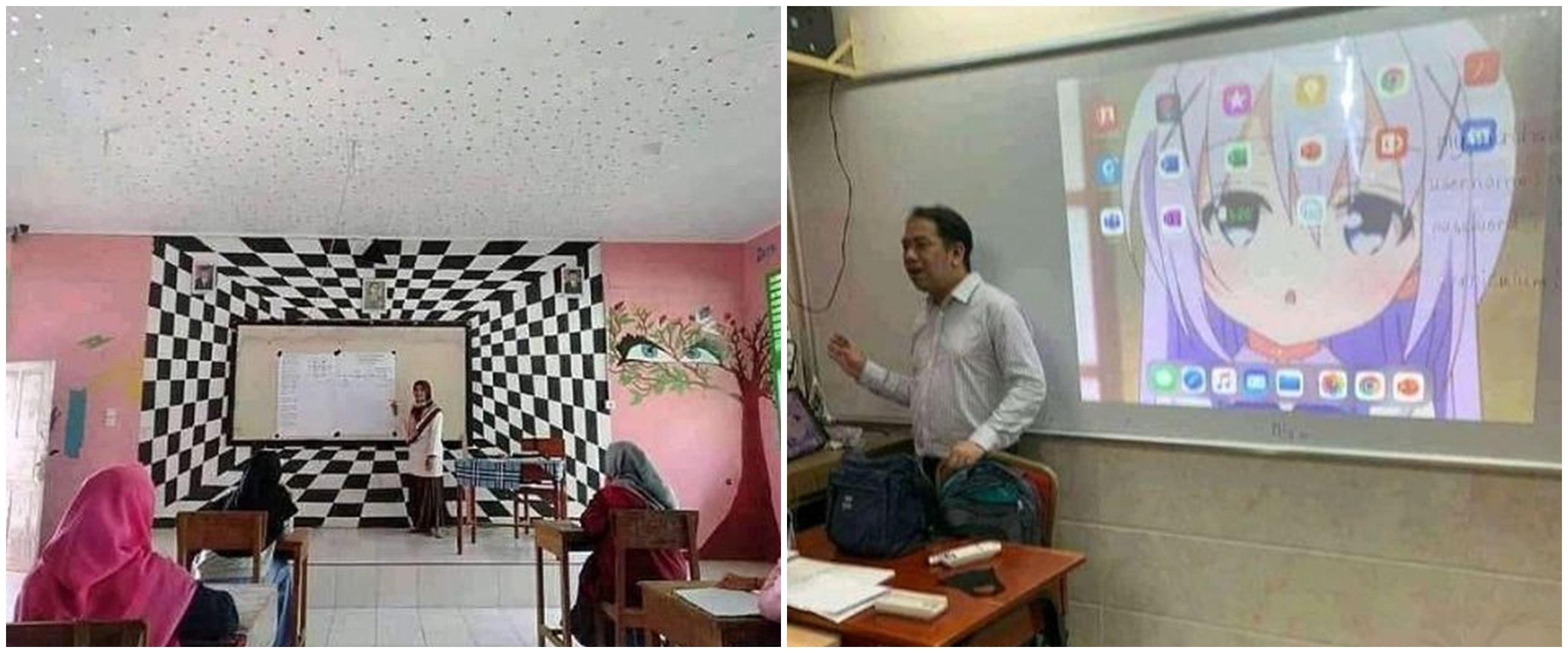 10 Potret lucu di ruang kelas ini malah bikin siswa bingung