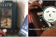 Ikuti kuliah online, kondisi laptop mahasiswa ini bikin senyum miris