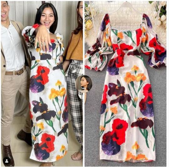 dress Glenca Chysara di bawah Rp 500 ribu © 2021 brilio.net Instagram