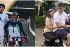 Potret manis 10 seleb naik sepeda bareng pasangan, bikin baper