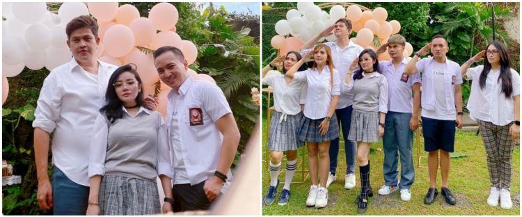 9 Momen pesta ultah ke-35 Mawar AFI, pakai dresscode seragam SMA