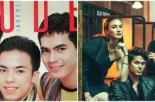 6 Potret seleb tiga bersaudara jadi cover majalah, gayanya hits abis