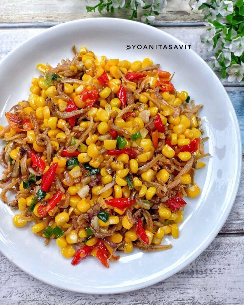 Resep kreasi sayur dan teri © Instagram